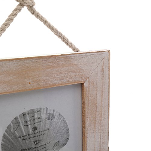 4x4 Inches Nautical Triple Wall Hanging Picture Frame with Glass Front