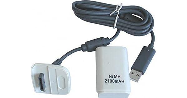 Bateria mando XBOX 360 con cargador. 2100 mAh: Amazon.es: Videojuegos