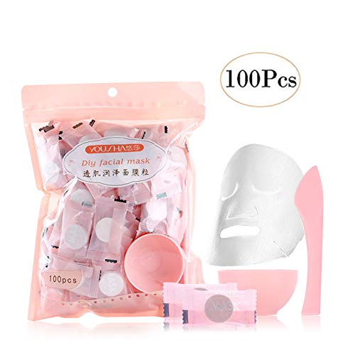 Yousa 100 piece Portable /Disposable compressed facial masks
