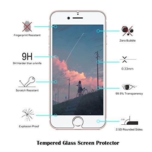 Funda iPhone 7 Plus / iPhone 8 Plus Funda Protectora Extra Fina [Con Protector de Pantalla de Vidrio Templado], Blossom01 Funda Ultra Fina de Gel de Silicona TPU Con Dibujo Animado Lindo Para Apple iP Expression pack