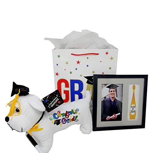 Graduation Autograph Dog 11 with Pen & Picture Frame Set for Your Graduate Includes Gift Bag!]()