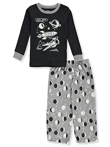 Boys Long Sleeved Fleece Pant - Carter's Boys' 2 Pc Pj (3T, Glow-in-Dark Space)