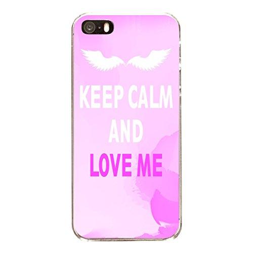 """Disagu Design Case Coque pour Apple iPhone SE Housse etui coque pochette """"KEEP CALM AND LOVE ME"""""""