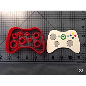 1 piece Custom Made 3D Printed Xbox Controller Fondant Cupcake Top Molds Cookie Cutters Set Cake Decoration Tools Cookie Molds