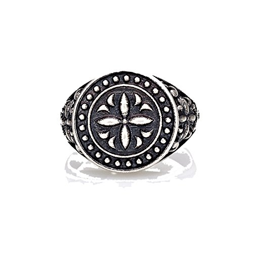 SEVEN50 New Premium Quality Sterling Silver Pinky Arabesque Ring Gorgeous Design And Patterns Incredibly Durable Gift Box