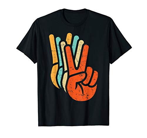 Retro Vintage Peace Sign Hand  ()