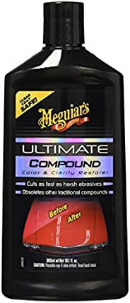 MEGUIAR'S G172300 Ultimate Compound Restaurador de Pintura, Color Negro, 300 ml/10.1 oz, Paquete