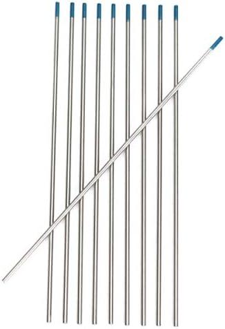 Welding Rods Lanthanum Tungsten Electrode 10Pcs Tungsten 2 Percent Lanthanated Blue Tip TIG Electrodes WL20 Welding Rods (Package : 30Pcs)