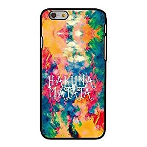 For iPhone 5 5S Case, Fashion Hakuna Matata Pattern Protective Hard Phone Cover Skin Case For iPhone 5 5S +Screen Protector