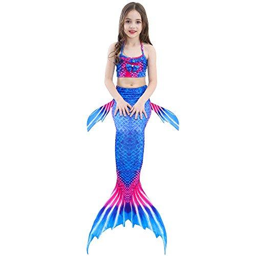 nuotare scintillante da di con per monopinna bagno Dh08 SAIANKE coda sirena Xxq47wXfF