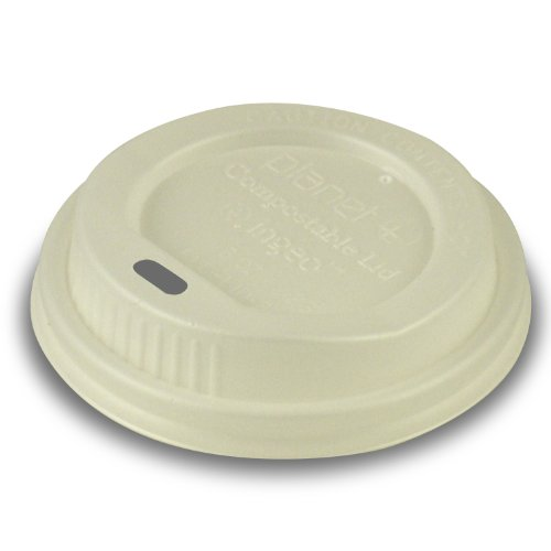 Planet + 100% Compostable PLA Hot Cup Lid, Fits 8 oz Single Wall and Double Wall Hot Cups, 1000-Count Case