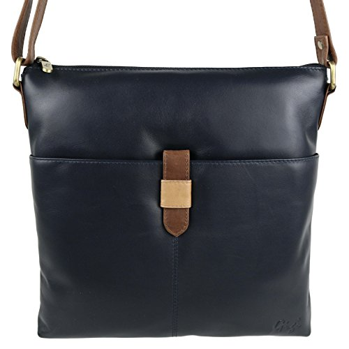 Cruz Soft brown Tonos Dos honey Mediano Ladies Funda mid Tamaño De Bolso Navy Gigi Piel By Cuerpo pTzRnxZw