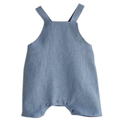 ESHOO Baby Boys Girls Cotton Linen Romper Jumpsuit Pants Overall One Piece