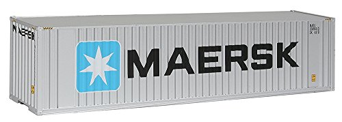 (Walthers SceneMaster 40' Hi-Cube Corrugated Container w/Flat Roof Maersk - Assembled Train Collectable Train)