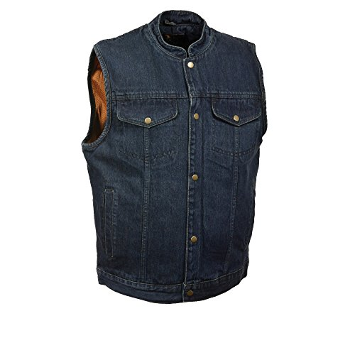Blue Mens Pennies - Milwaukee Performance Men's Denim Club Style Vest (Blue, Large) (DM2238-BLU-LG)