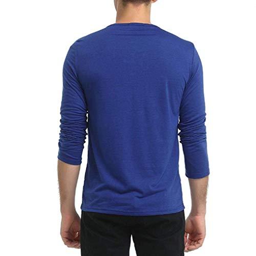 Corte Hombre Larga Camisa Simple En Sudaderas Con Slim Blusas Capucha Deportiva Para Blau De Cuello Estilo Manga V wXX1gq4f6