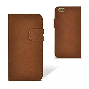Welmax Flip-open Design Matte Pu Full Body Case 4.7 Inch with Stand and Card Slot for Iphone 6 (Brown)