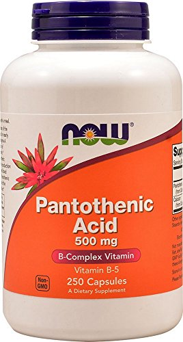 NOW Pantothenic Acid 500 mg,250 Capsules