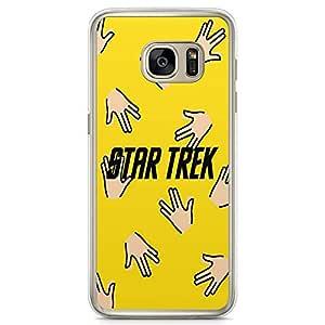Loud Universe Star Trek Spock Samsung S7 Edge Case Spock Pattern Samsung S7 Edge Cover with Transparent Edges