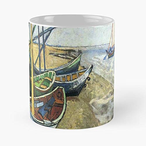 Saintes Maries Oil - Fishing Boats On The Beach At Les Saintes Maries De La Mer - Coffee Mugs Best Gift For Father Day