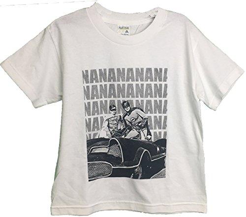Bioworld Batman and Robin Classic 60's Youth T-Shirt White L