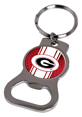 Rico Industries NCAA Georgia Bulldogs Metal Bottle Opener Keychain
