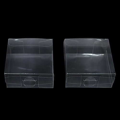 Clear Plastic PVC Boxes for Invitation Event Chocolate Display Multi-Purpose Transparent Poly Festival Holiday Special Occasion Gift Packaging Boxes (30, 2.4x2.4x1.2 inch(6x6x3 cm))]()