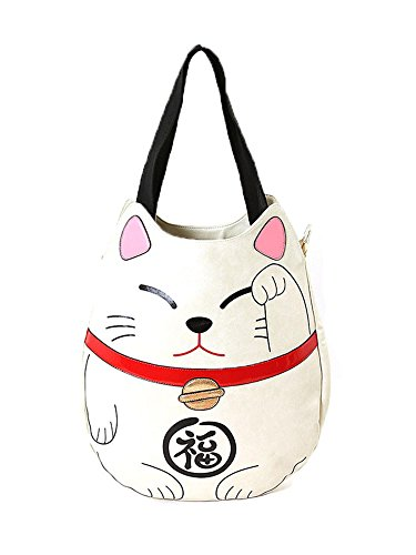 Tote Maneki Bag Purse Sleepyville Cat Lucky Large Handbag Vegan Neko Critters gxxq6APw