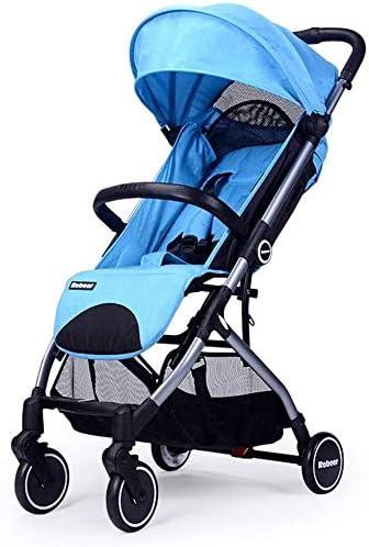 Opinión sobre OESFL Cochecito de bebé recién nacido Ligera Ligera carro de bebé Cochecitos de bebé del portador de viaje portátil for 0-3 años de bebé del cochecito de niño plegable del bebé (Color : Blue)