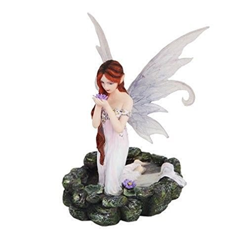 - Ky & Co YesKela White Water Princess Fairy Kneeling in Pond Mystical Statue Figurine