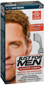 Just For Men AutoStop Haircolor, Light Brown A-25, 1 ea