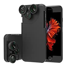 "Case Cover for iPhone 7, xhorizon TM FL1 4 in 1 iPhone 7 [4.7""] Lens Case Camera Lens Kit Fish Eyes / Macro Lens / Wide Angle Lens / Telephoto Lens"
