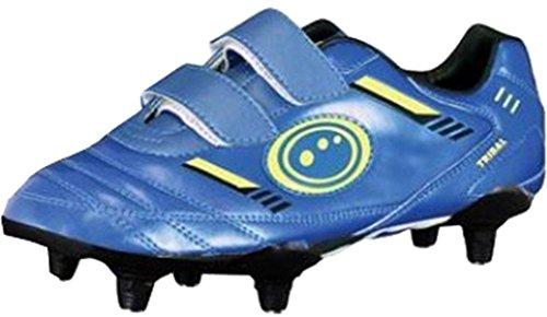Optimum Tribal Fußball Rugby Stiefel Synthetik PU-Obermaterial Klettverschluss Turnschuhe blau / grün