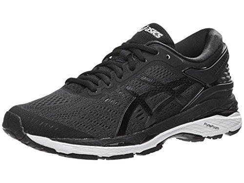 Price comparison product image ASICS Women's Gel-Kayano 24 Running-Shoes,  Black / Phantom / White,  8.5 Medium US
