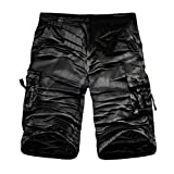 Alimao Clearance Sale Men's Pants Casual Camouflage Outdoors Pocket Work Button Trouser Cargo Shorts Pant