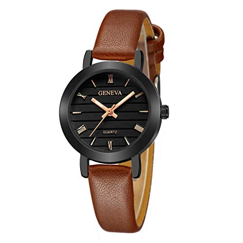 (Great Beautiful Womens Watch Classic Quartz Stainless Steel Wrist Watch Bracelet Watches D)