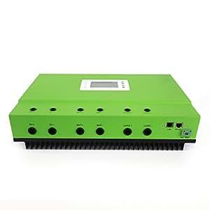 Controlador de Carga Solar MPPT de hxengy self-Cooling 96V Voltaje de la batería 300V PV voltaje de entrada 50Amp con RS232comunicación LAN y sensor de temperatura
