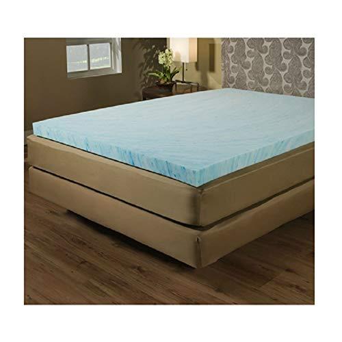 Twin size 2-inch Blue Gel Memory Foam Mattress Topper - Made