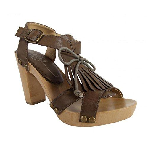 Zapatos de tacón de Mujer MTNG 53251 TAIGO CHOCOLATE
