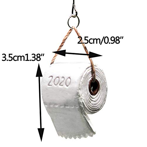 Yubenhong 2020 Christmas Ornament Toilet Paper Crisis Chritsmas Decorations Xmas Tree Hanging Pendant Home Decor Christmas Baubles Party Supplies for Thanksgiving and Christmas (5 PCS)