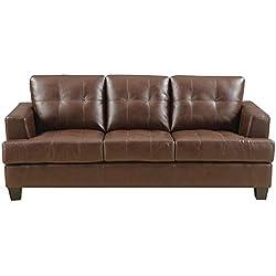 Coaster Samuel Transitional Sleeper Sofa, Dark Brown