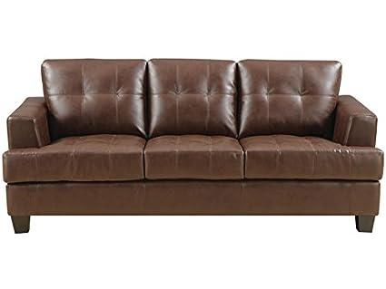 Superieur Coaster Samuel Transitional Sleeper Sofa, Dark Brown