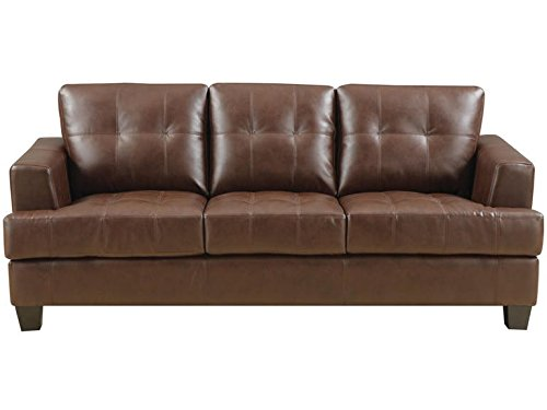 Leather Sleeper - Samuel Sleeper Sofa Dark Brown