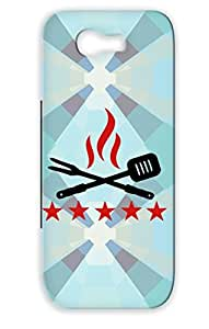 BBQ Red Protective Hard Case For Sumsang Galaxy Note 2 Cook Miscellaneous Sausages Cooking Barbecue Grill Bbq Funny