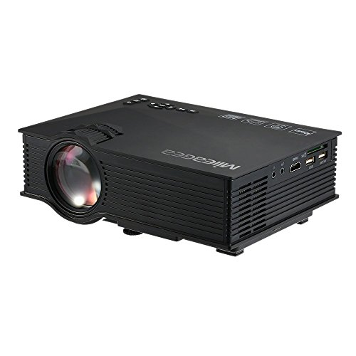 Mileagea led projector mini portable multimedia 1080p full for Wireless mini projector