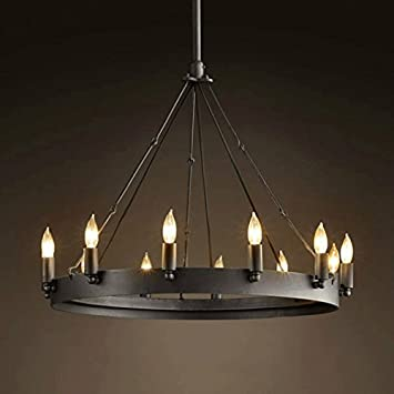 Amazon grh 12 head industrial retro lighting simple european grh 12 head industrial retro lighting simple european classical round table candle chandelier iron works aloadofball Image collections