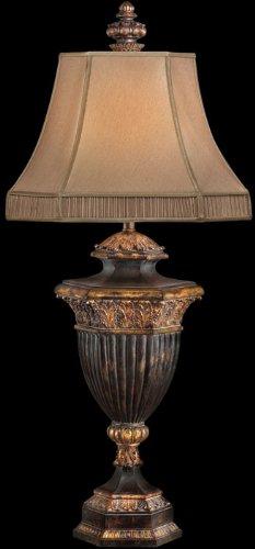 3 Light Castile (Fine Art Lamps 230710, Castile Tall 3 Way Table Lamp, 1 Light, 150 Total Watts, Gold Leaf)