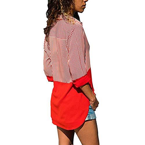 Jayvee Femme Red Chemisier Chemisier Jayvee Femme xFFrIq