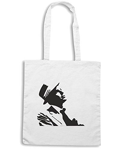 T-Shirtshock - Bolsa para la compra TGAM0025 Frank Sinatra Blanco