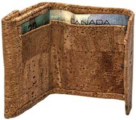 CORK Wallet Coin Holder Vegan Gift SMALL Compact Designed in Canada